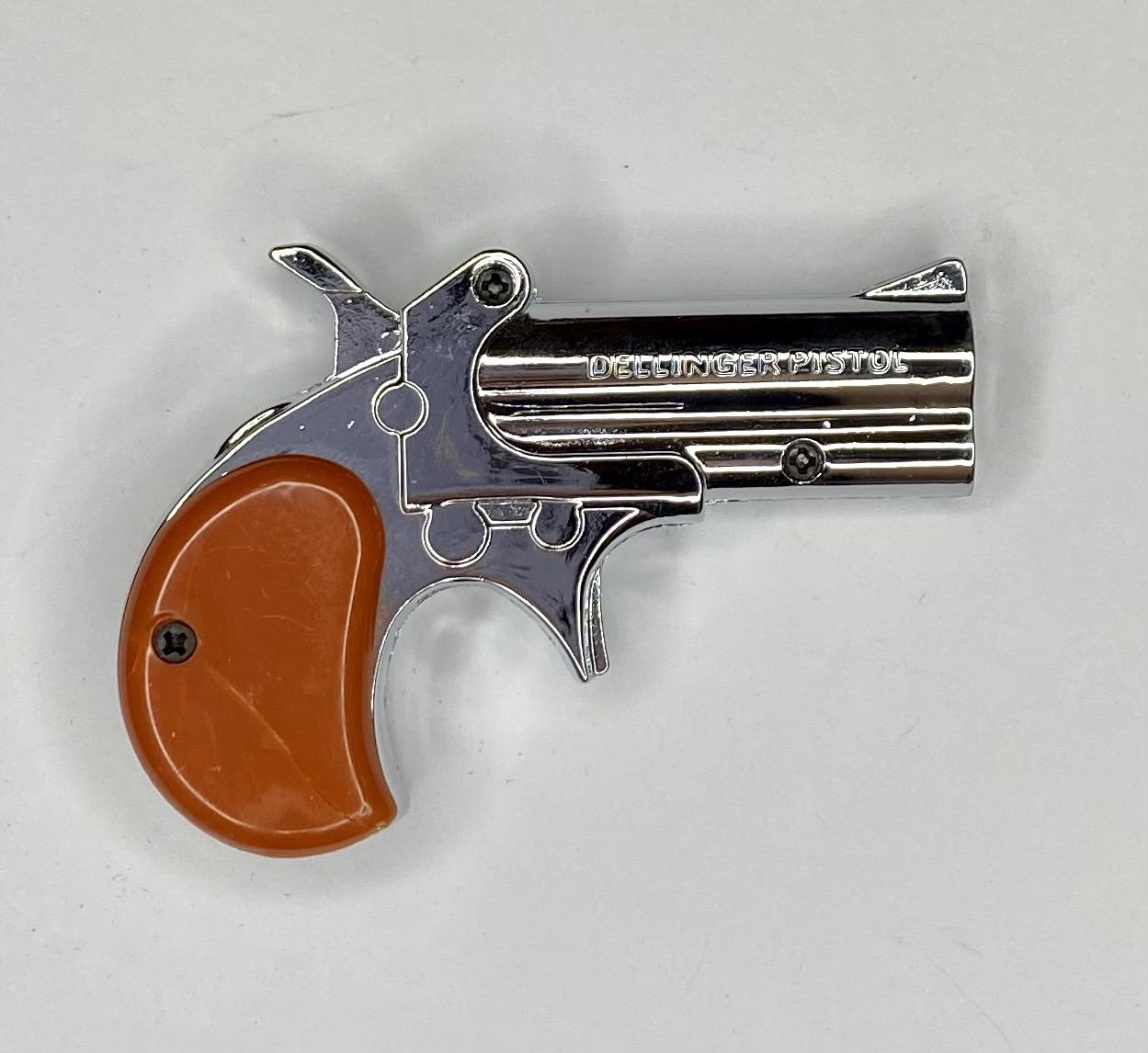 Сувенирная топовая зажигалка-пистолет