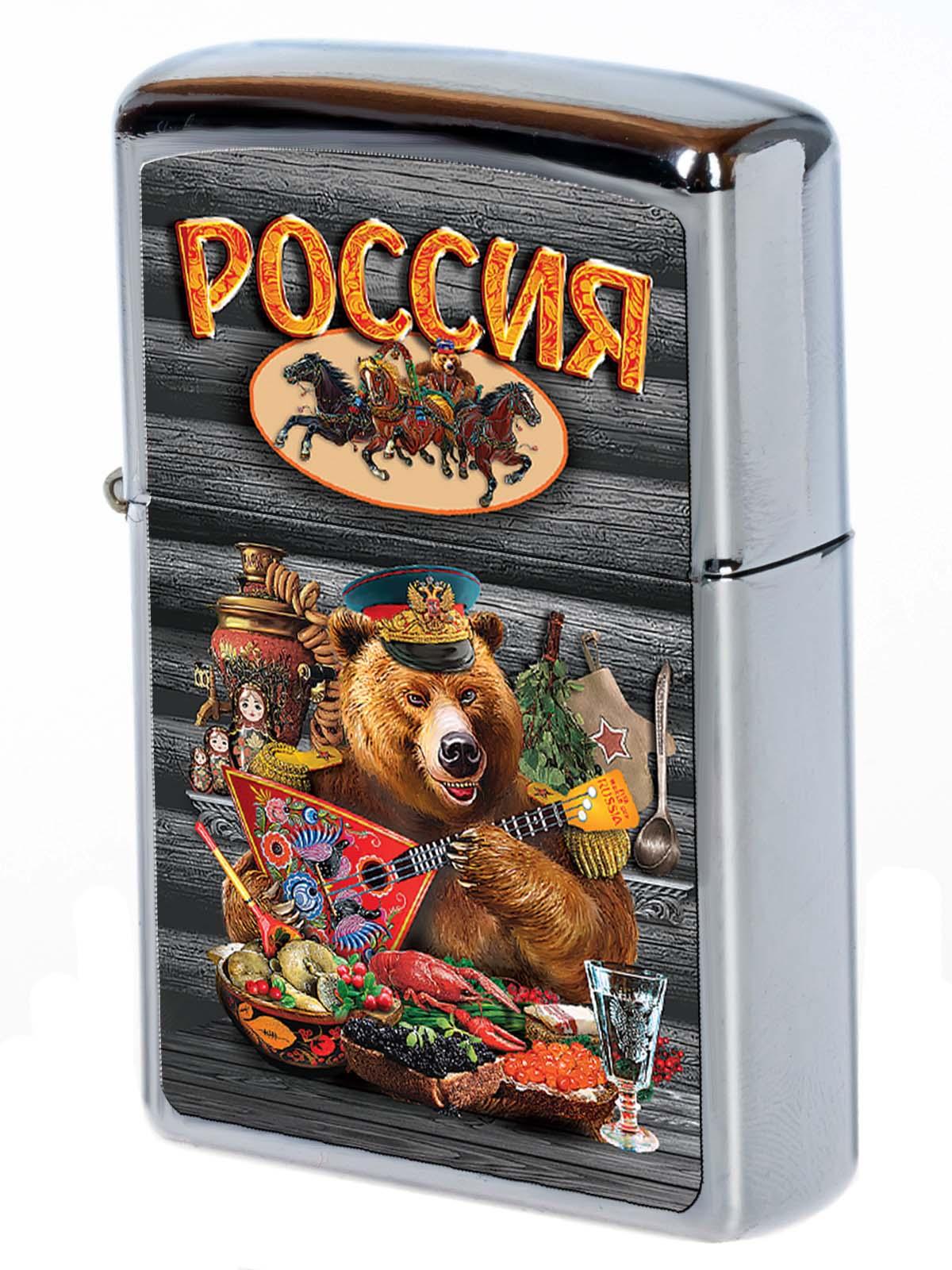 """Сувенирная зажигалка """"Медведь с балалайкой"""""""