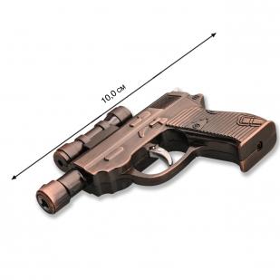 Сувенирная зажигалка-пистолет по выгодной цене