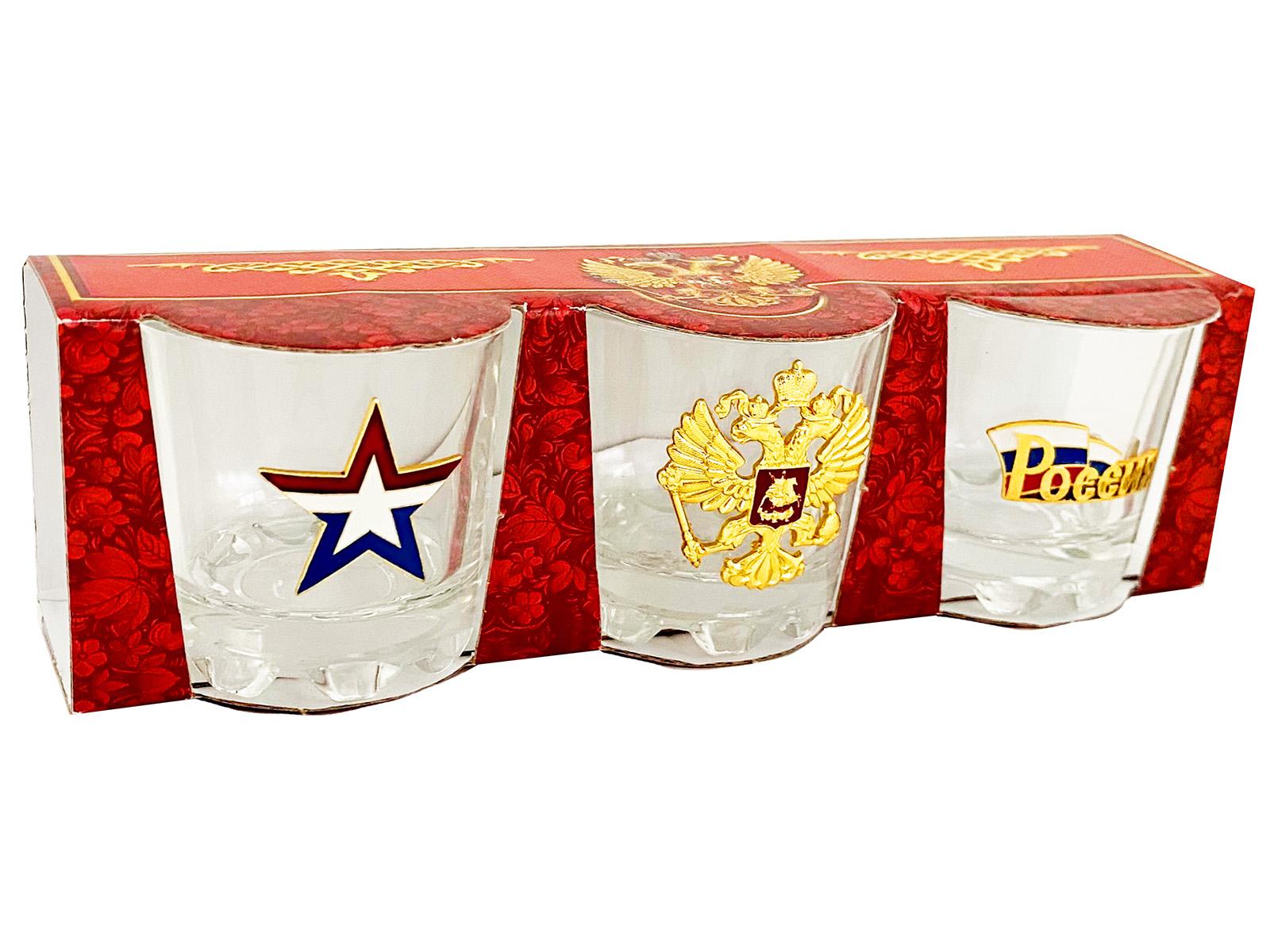 Сувенирно-подарочный набор стопок Россия