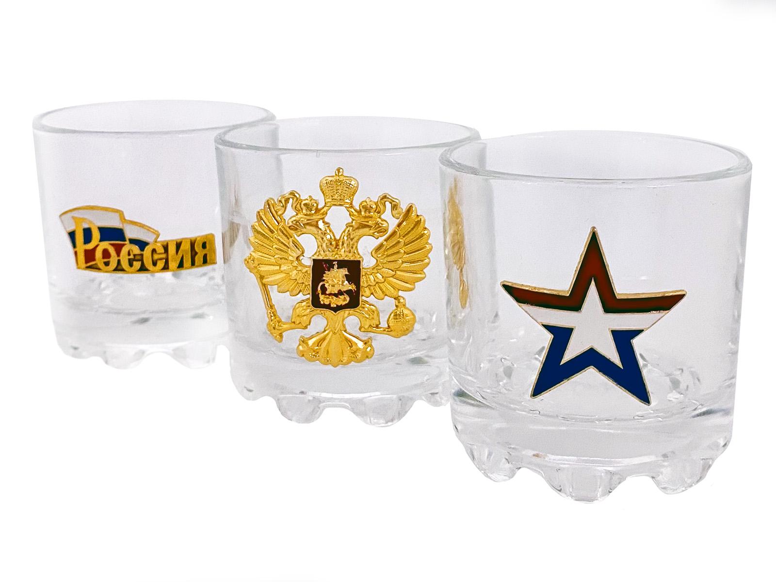 Набор стопок по 50 мл с символикой российской армии