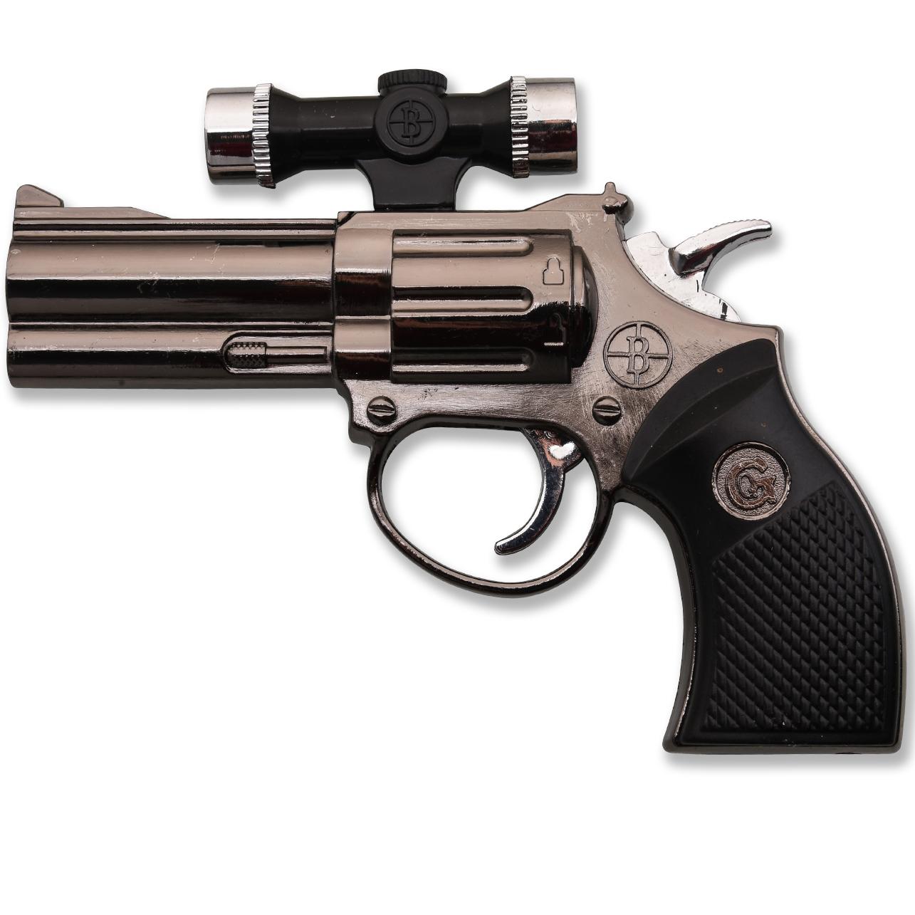Сувенирный револьвер зажигалка с лазерным прицелом