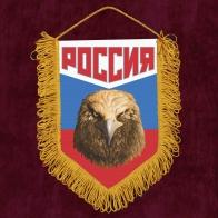 """Сувенирный вымпел """"Россия"""" триколор с орлом"""