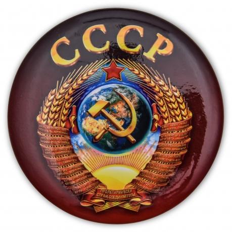 Сувенирный закатный значок СССР