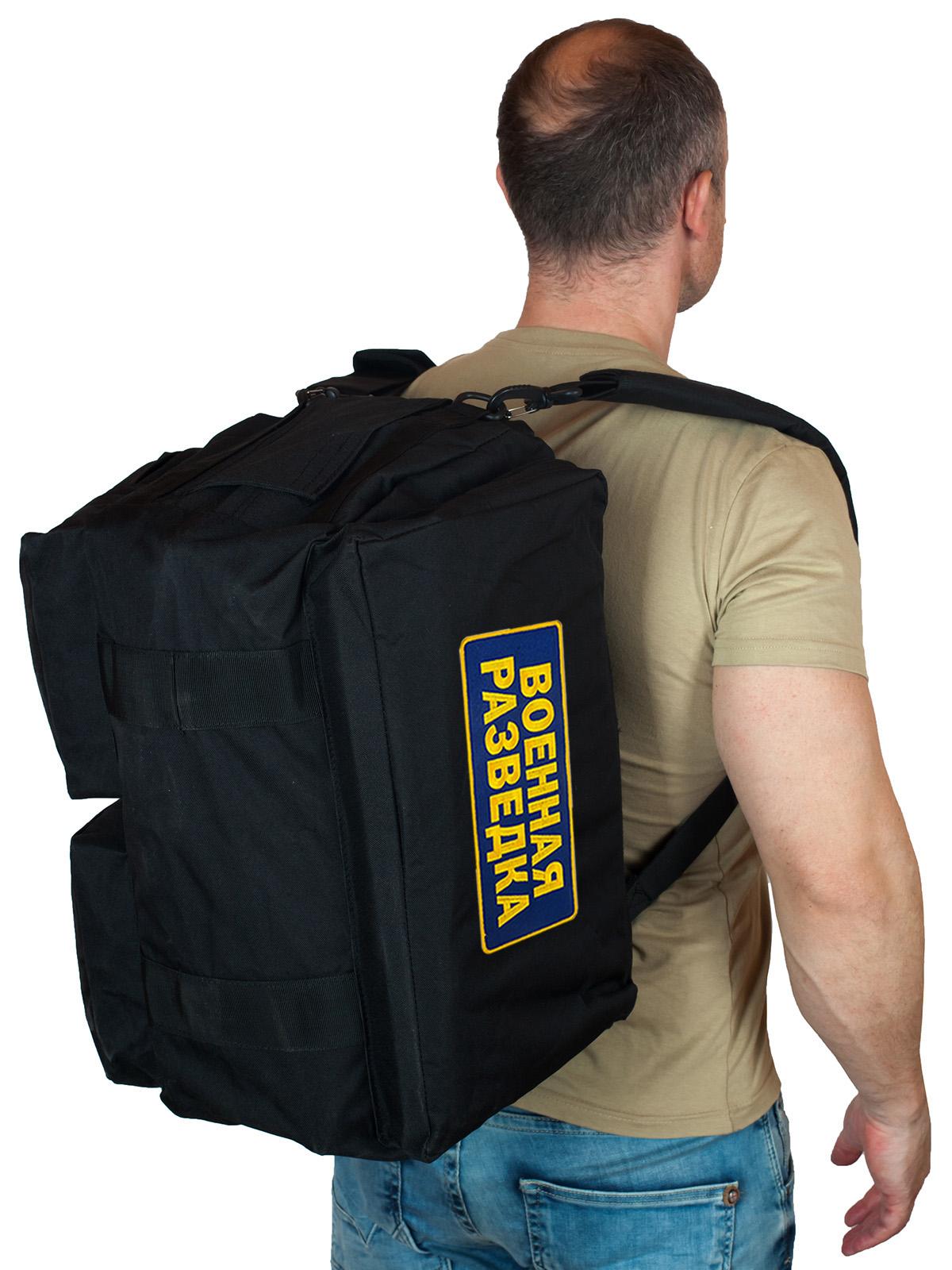 Тактическая сумка с карманами и нашивкой Военная Разведка