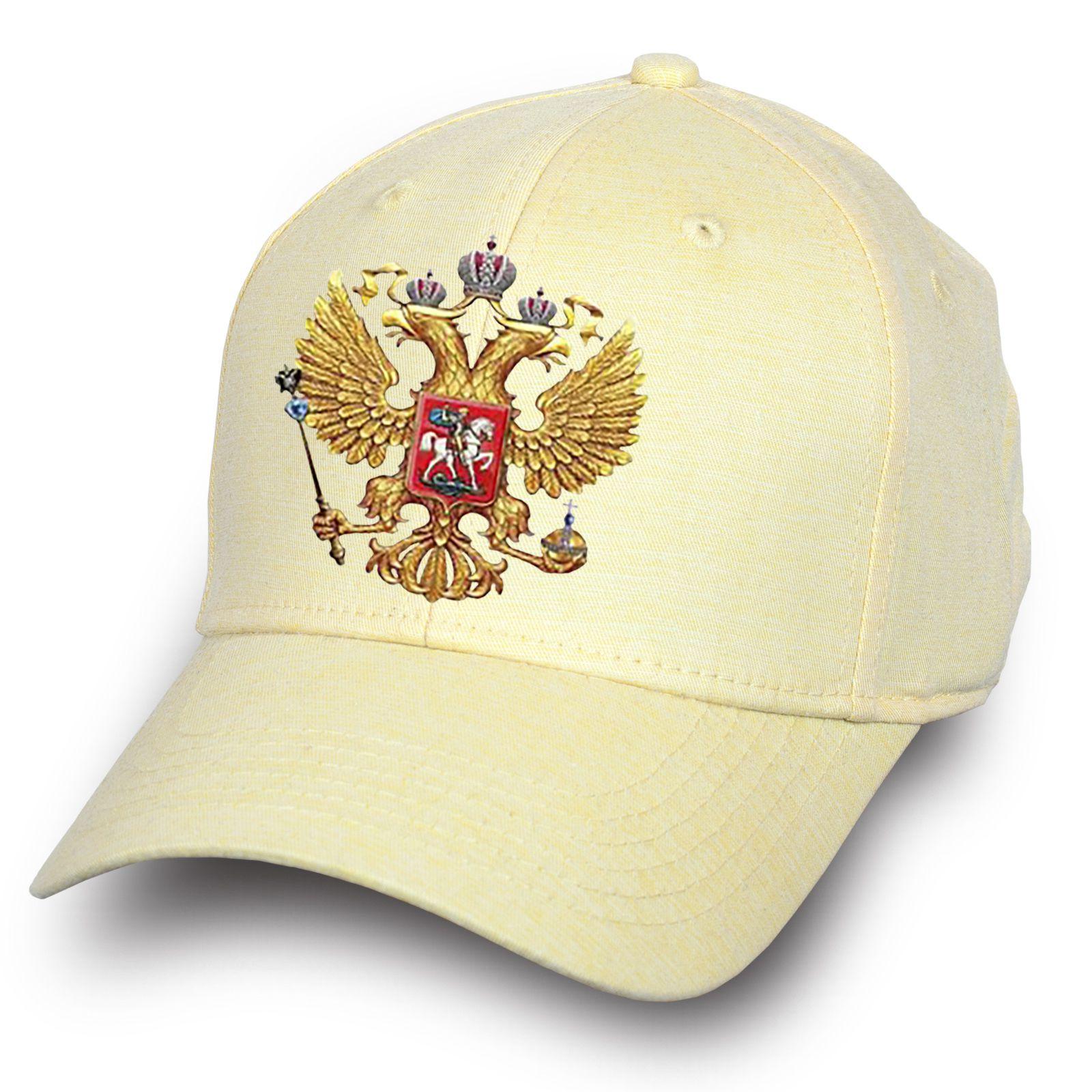 """Светлая кепка """"Двуглавый орел"""" - купить по низкой цене"""