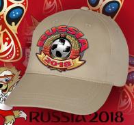 Светлая кепка Russia 2018.