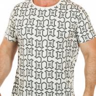 Светлая мужская футболка SPLASH с геометрическим принтом. ХИТ этого лета!