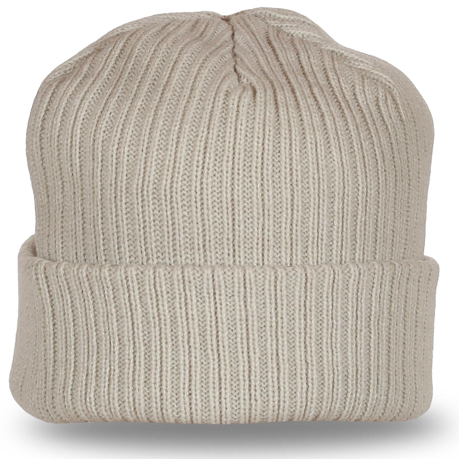 Светлая шапка отличного качества