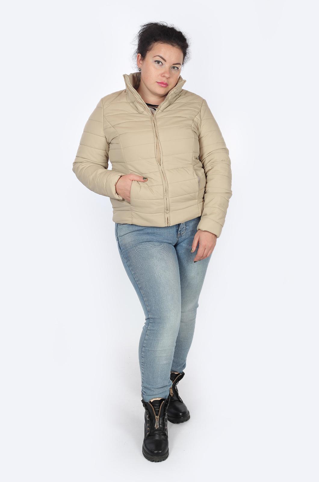 Бежева коротенькая курточка – все размеры