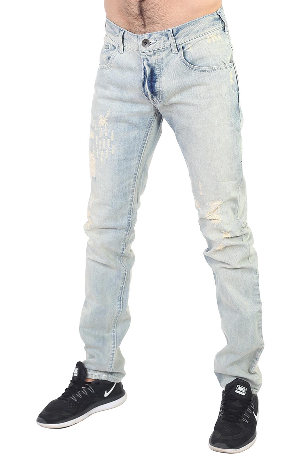 Купить в Москве мужские клубные джинсы с потертостями