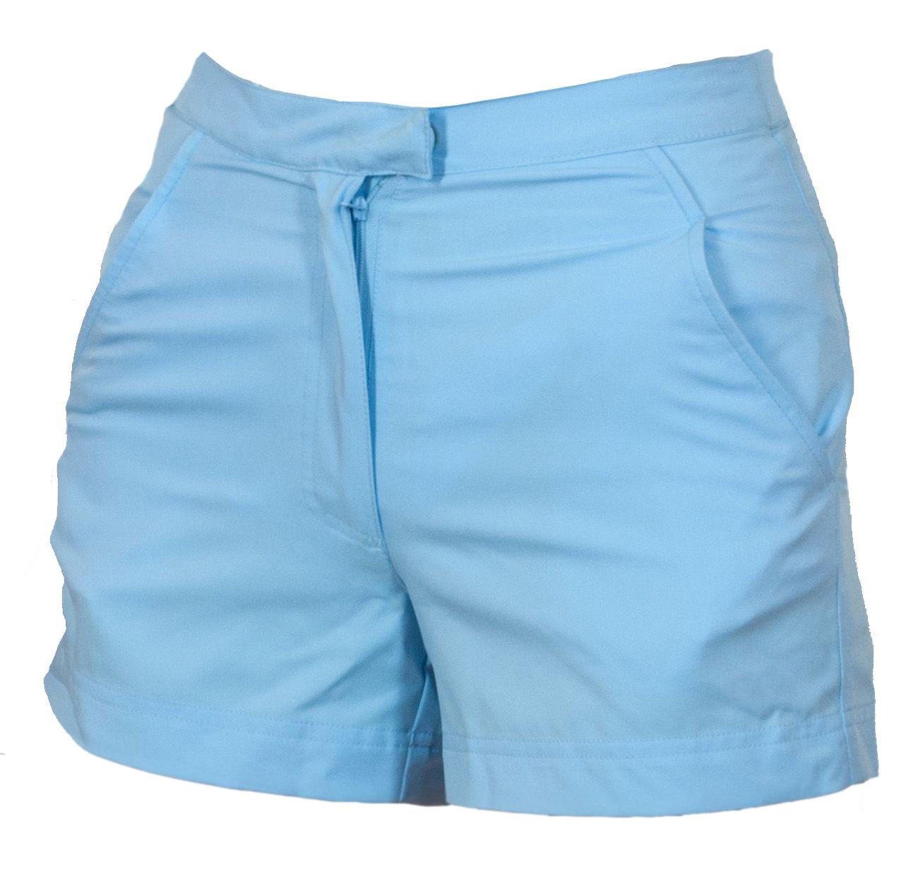 Купить светло-голубые шорты для девушки