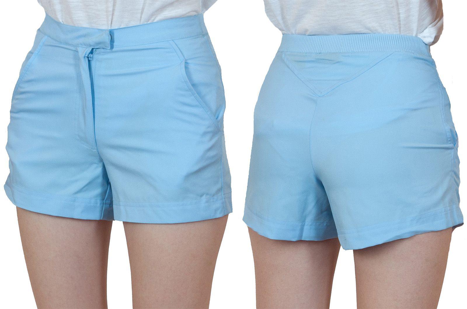 Заказать светло-голубые шорты для девушки