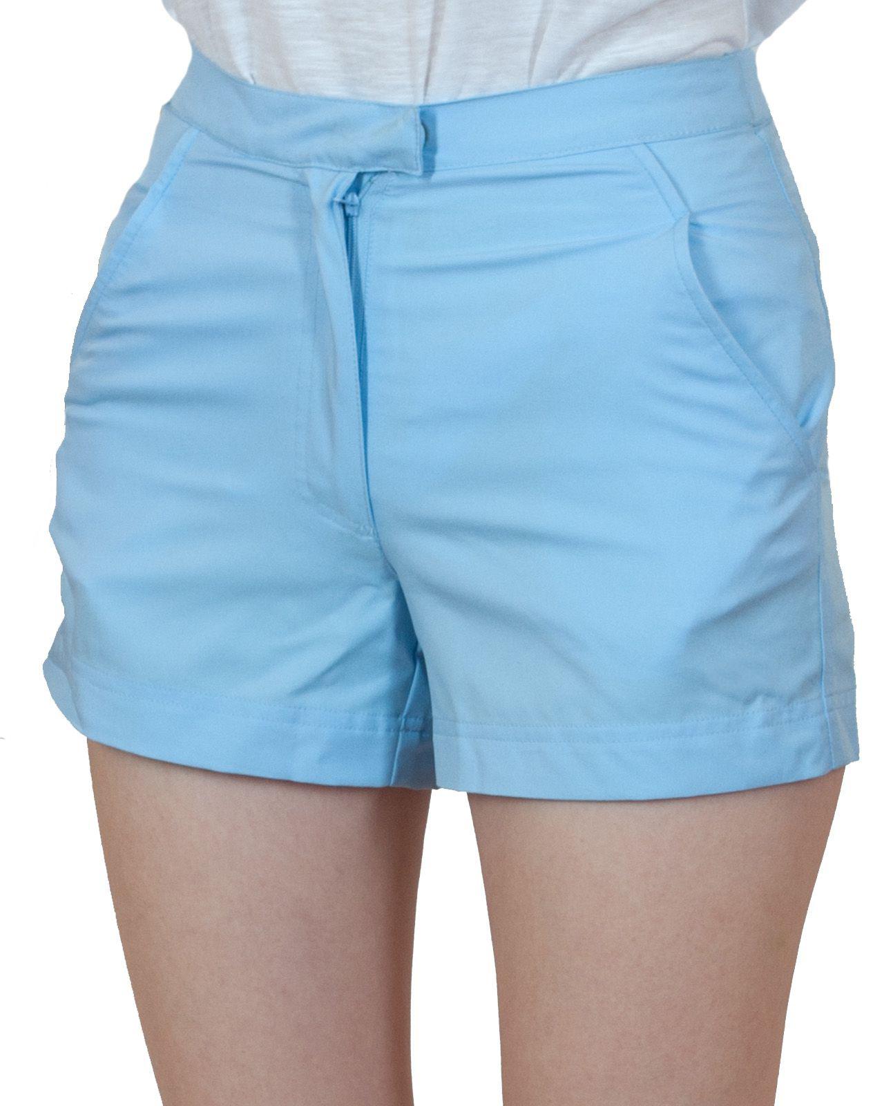 Светло-голубые шорты для девушки