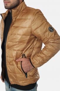 Светло-коричневая мужская куртка Layinsck.