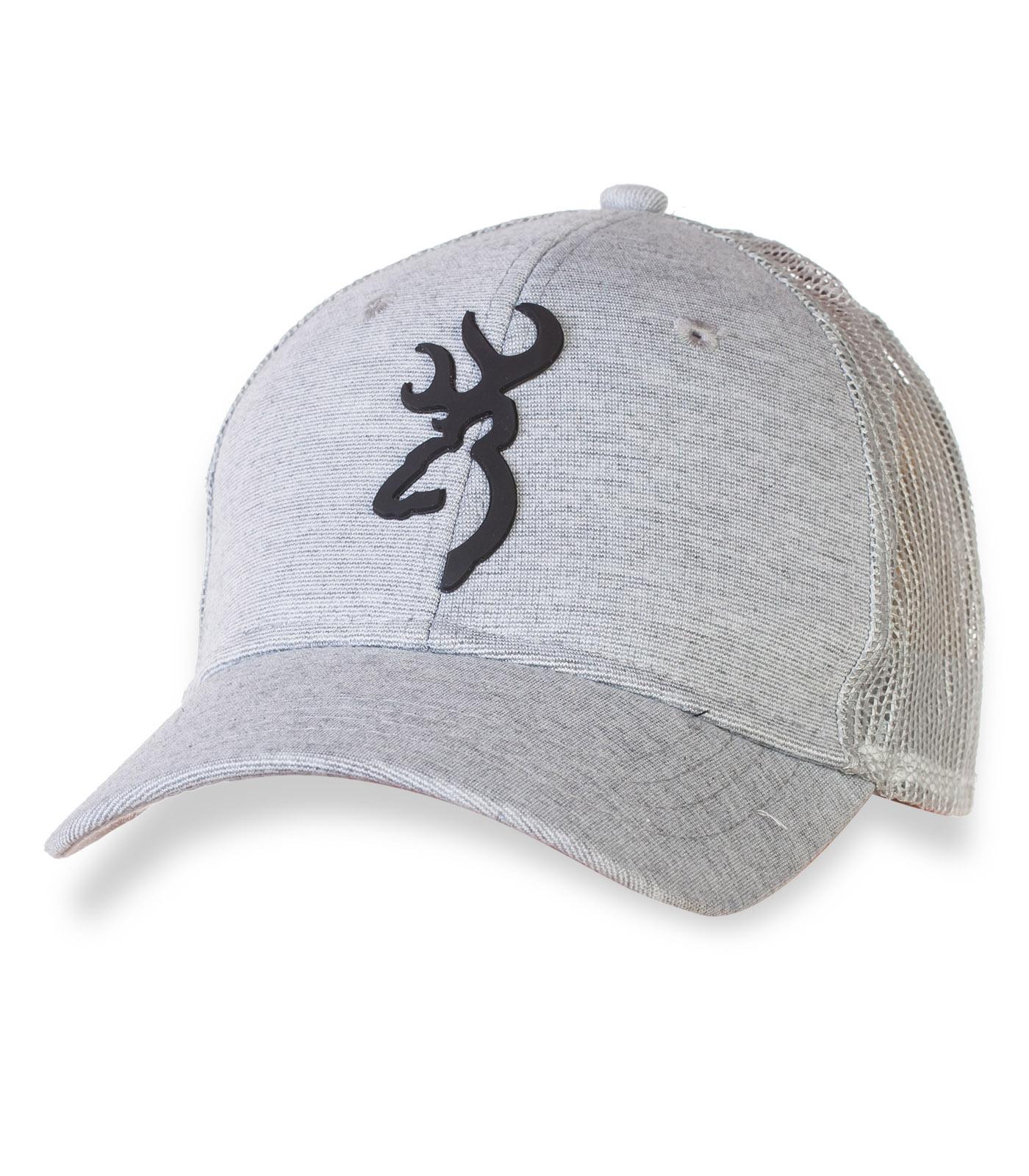 Светло-серая фирменная кепка Browning.