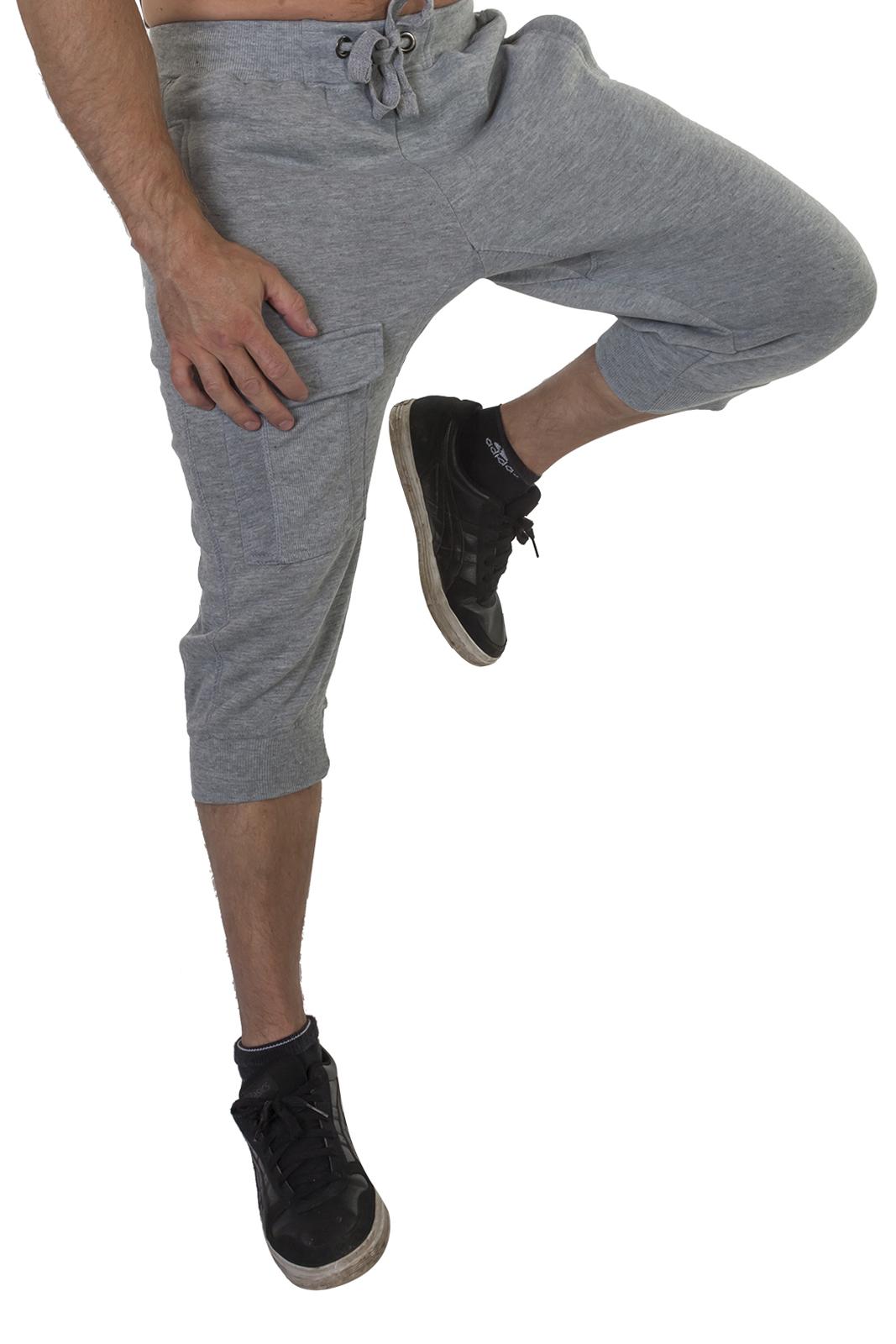 Мужские серые бриджи с карманами – сниженная стоимость