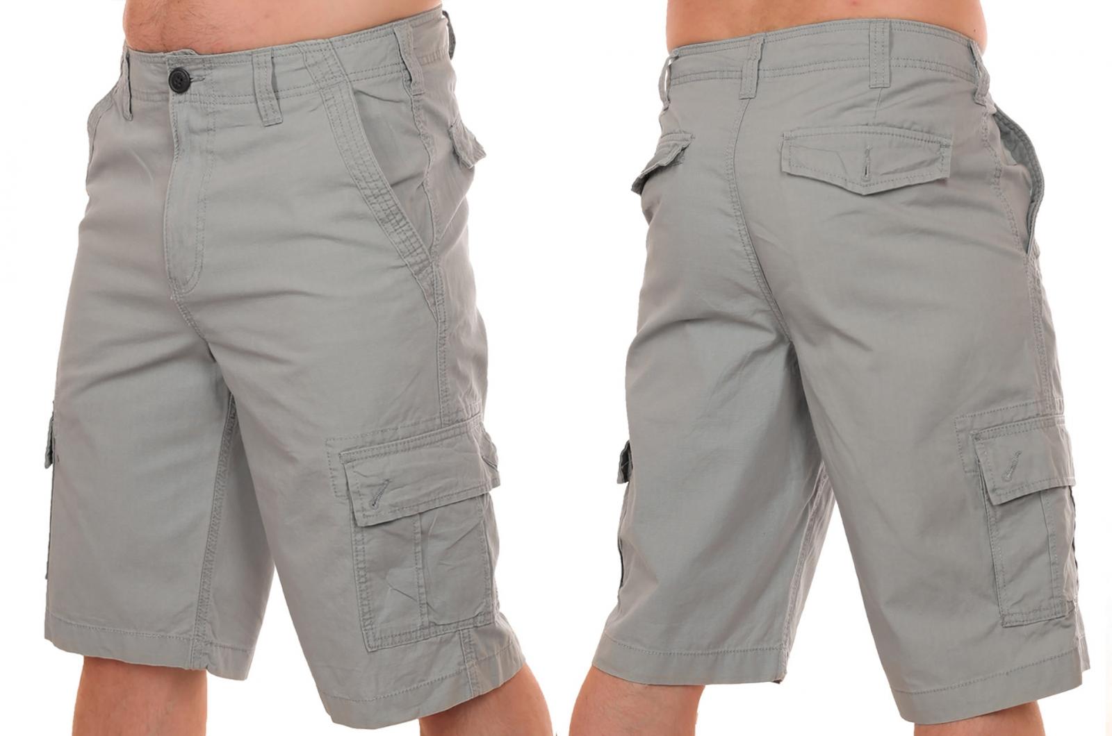 Заказать стильные светло-серые шорты мужские от Urban (США)