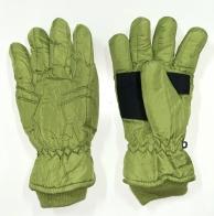 Светло-зеленые зимние перчатки с манжетами