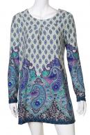 Светлое брендовое платье с ярким принтом