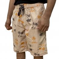 Светлые мужские шорты с принтом Septwolves