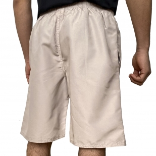 Светлые мужские шорты с принтом волков