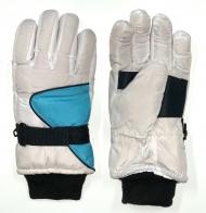 Светлые зимние перчатки с манжетами