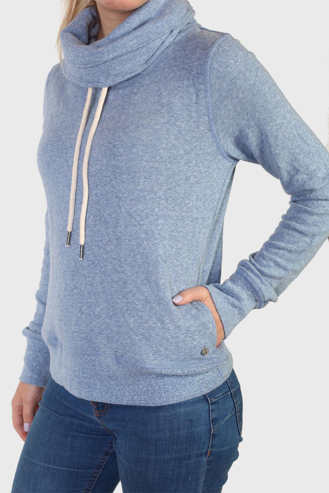 Голубой женский свитер худи от бренда Barbados