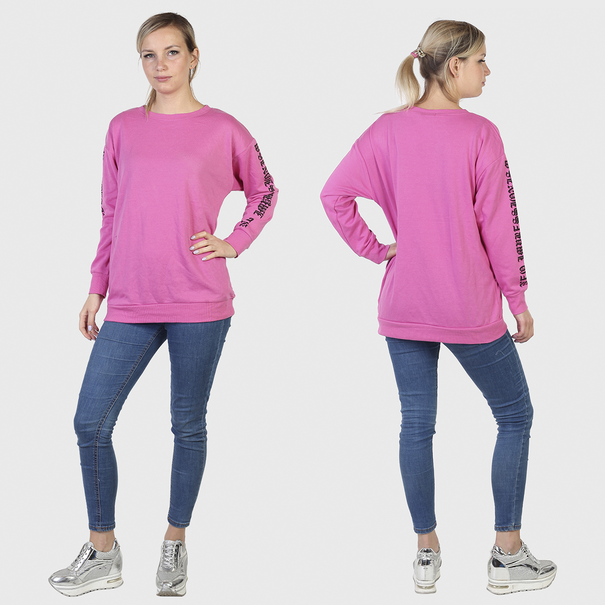 Женский розовый свитер Sunblaze