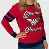 Женский красный свитшот Wonder Woman