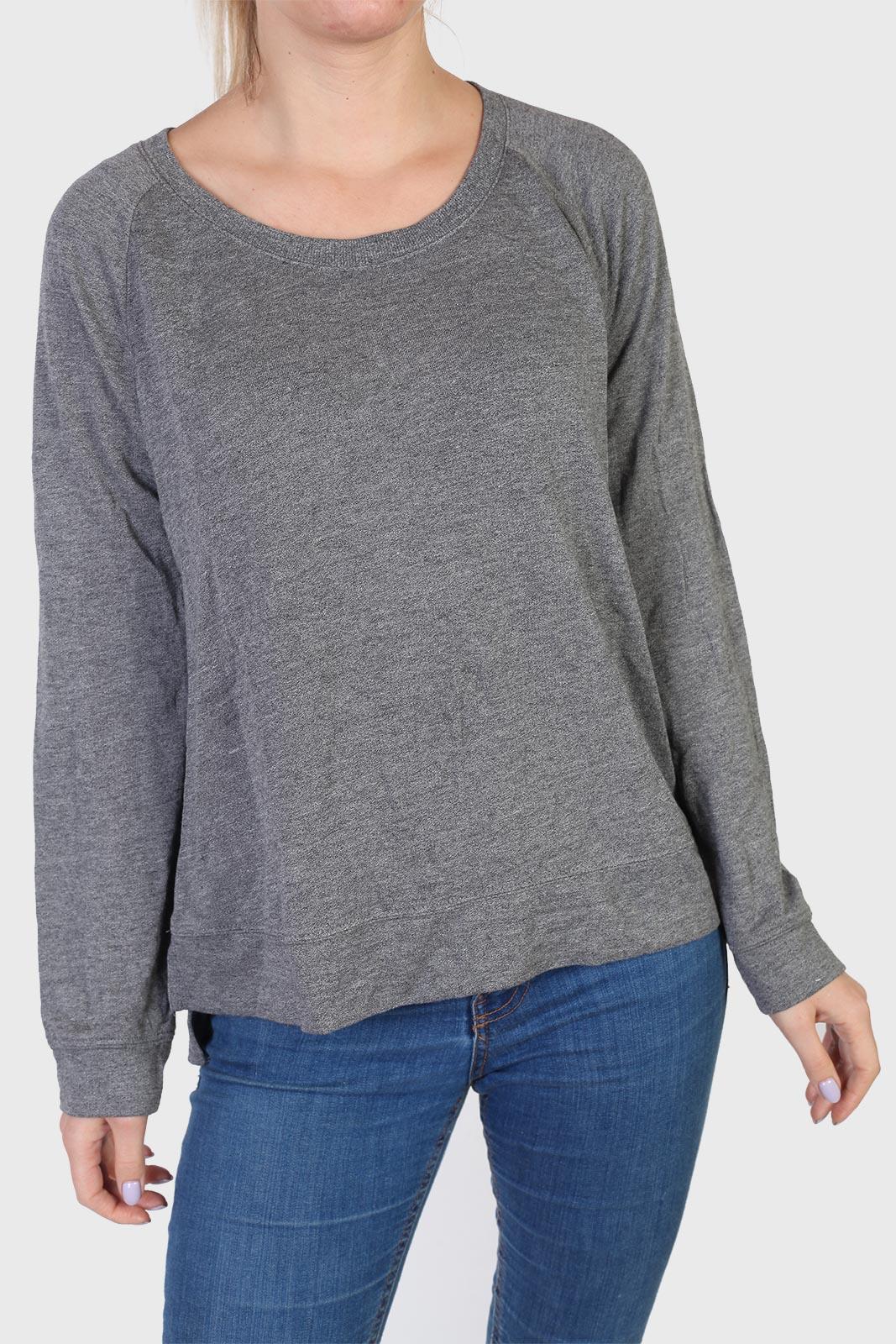 Асимметричная женская кофта серого цвета от ТМ Shimera