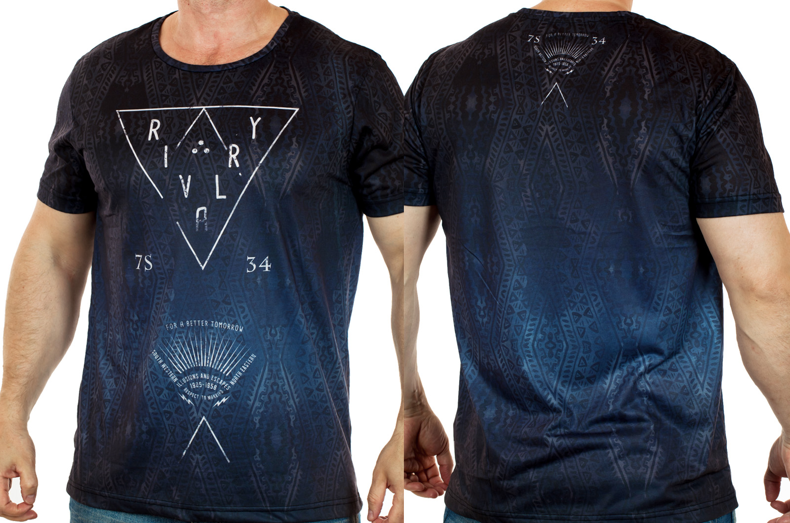 Свободная мужская футболка от ТМ Max Youngmen. Символичная анаграмма, насыщенный живой цвет