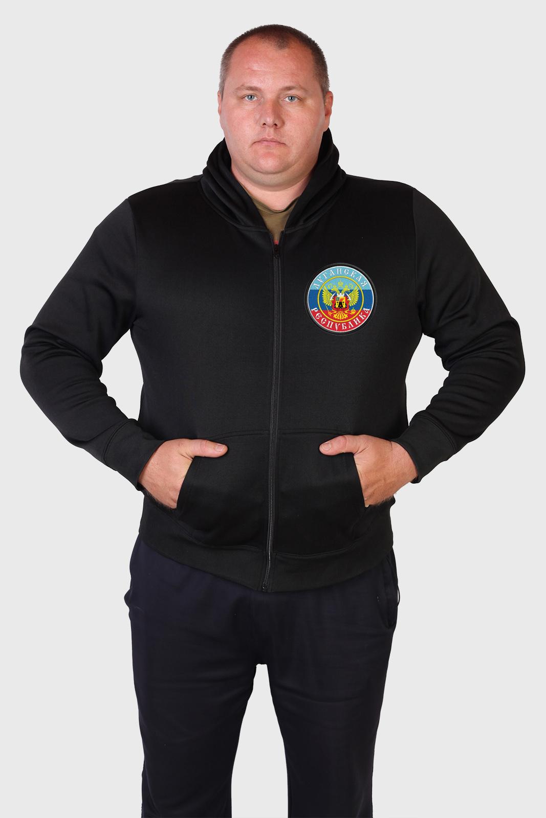 Свободная милитари толстовка Луганская Республика.