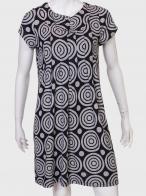 Свободное черно-серое платье от бренда 2В