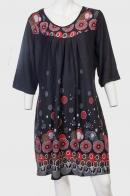 В стиле ФОЛЬК! Свободное трикотажное платье Claire France.