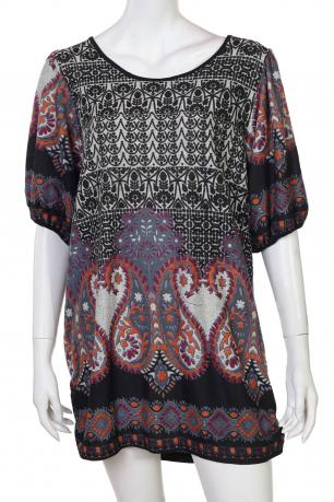 Свободное платье с этно-принтом от Z&L