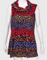 Свободное женское платье с изумительным принтом от Palme