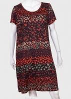 Свободное женское платье с коротким рукавом от Palme