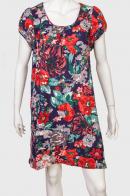 Свободное женское платье с оригинальным принтом от Pistachio
