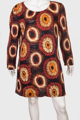 Свободное женское платье с широким рукавом от QED LONDON