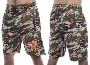 Свободные камуфляжные шорты удобного кроя с нашивкой Росгвардия - купить в Военпро
