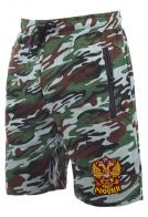Свободные милитари шорты с нашивкой герб России