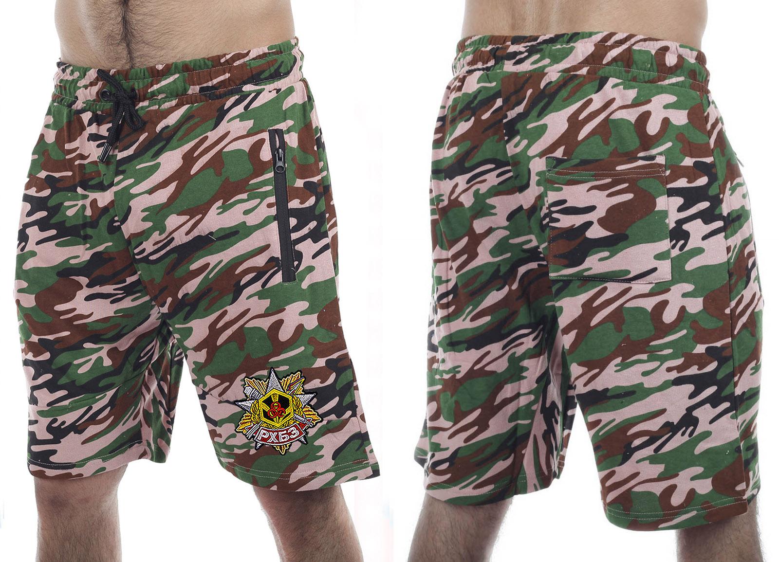 Свободные шорты особого фасона с нашивкой РХБЗ - заказать в розницу