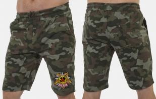 Свободные шорты удлиненного фасона с нашивкой РХБЗ - купить в розницу