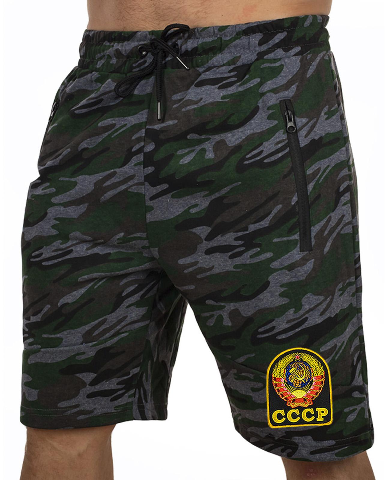 Купить свободные удлиненные шорты с нашивкой СССР в подарок мужчине