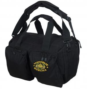 Тактическая черная сумка-рюкзак с нашивкой Танковые Войска - купить онлайн