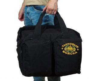 Тактическая черная сумка-рюкзак с нашивкой Танковые Войска - купить выгодно
