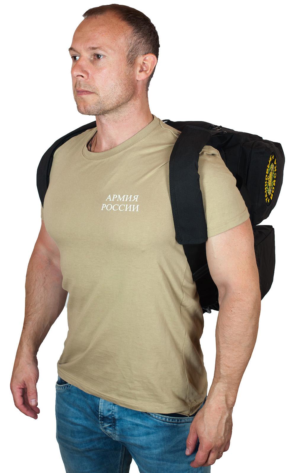 Тактическая черная сумка-рюкзак с нашивкой Танковые Войска - купить в Военпро