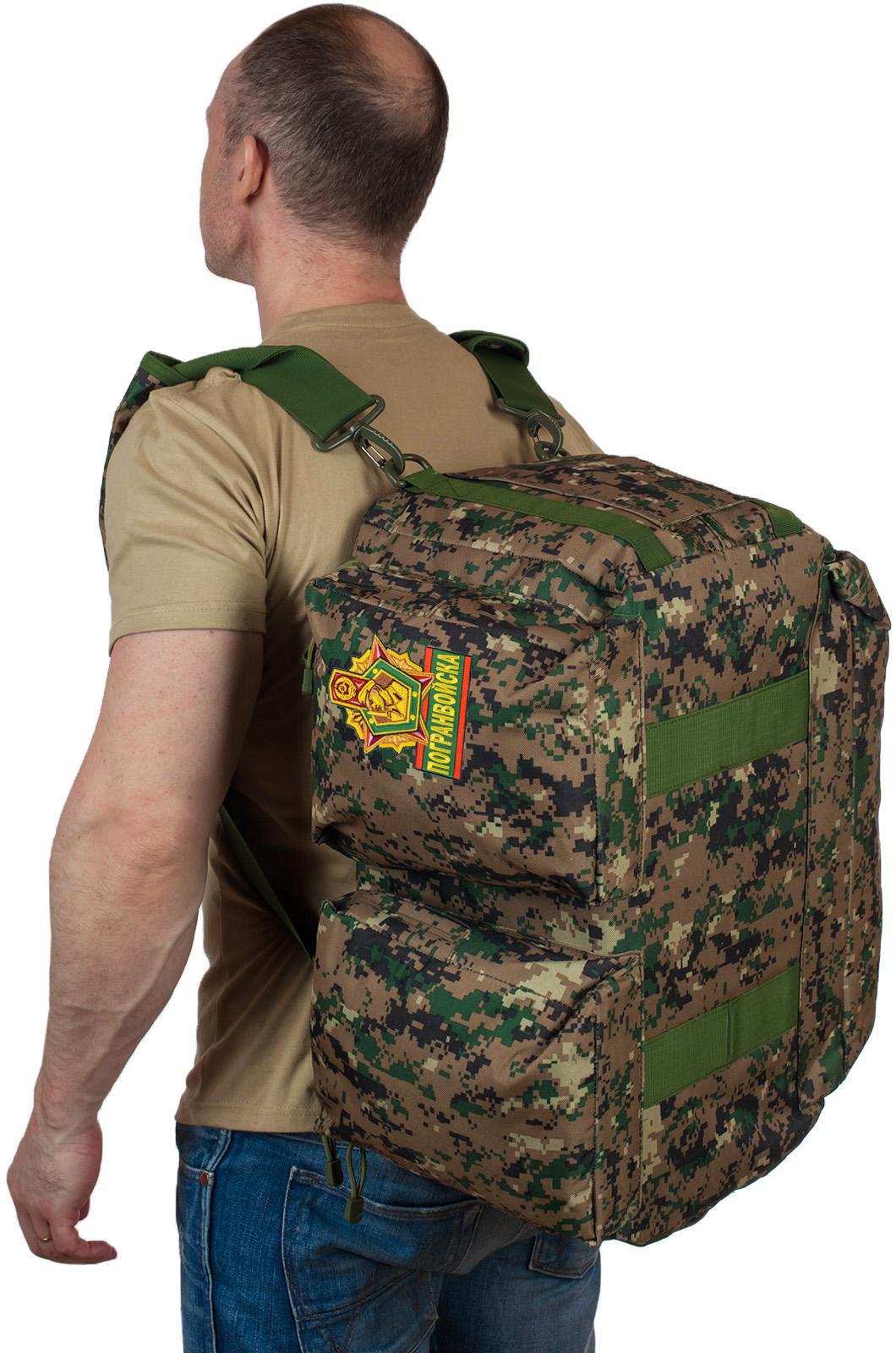 Купить тактическую дорожную сумку-баул с нашивкой Погранвойск оптом выгодно