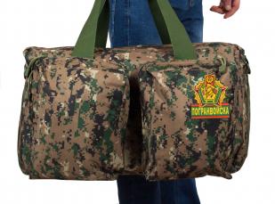 Тактическая дорожная сумка-баул с нашивкой Погранвойск - заказать в подарок